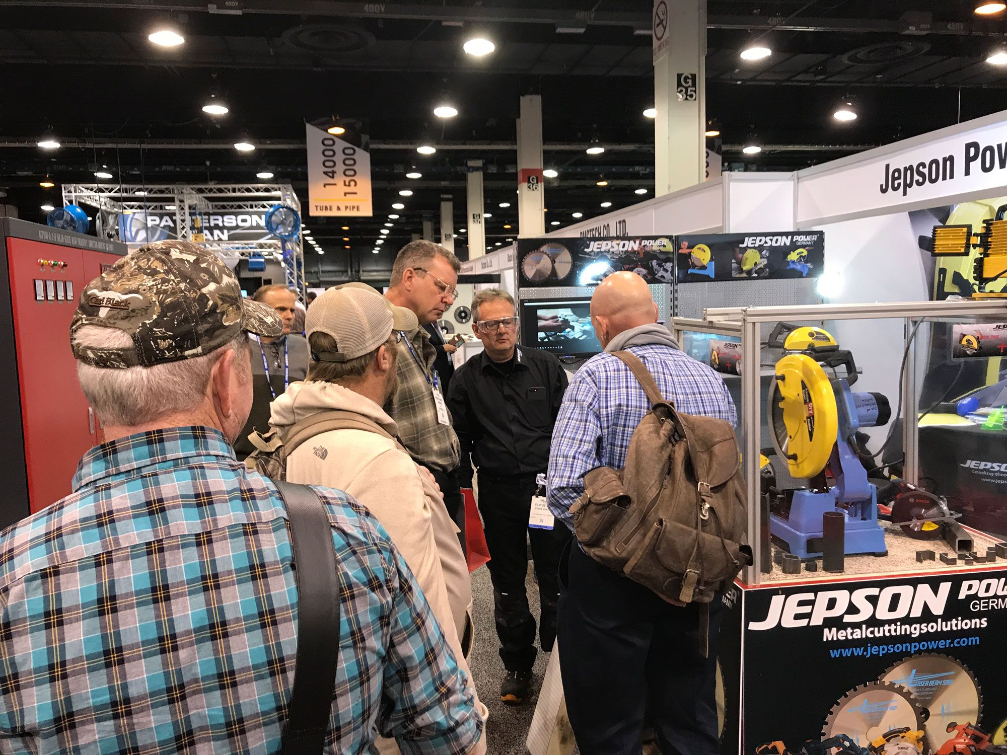Good exchange of information on our booth at Fabtech 2017, Chicago