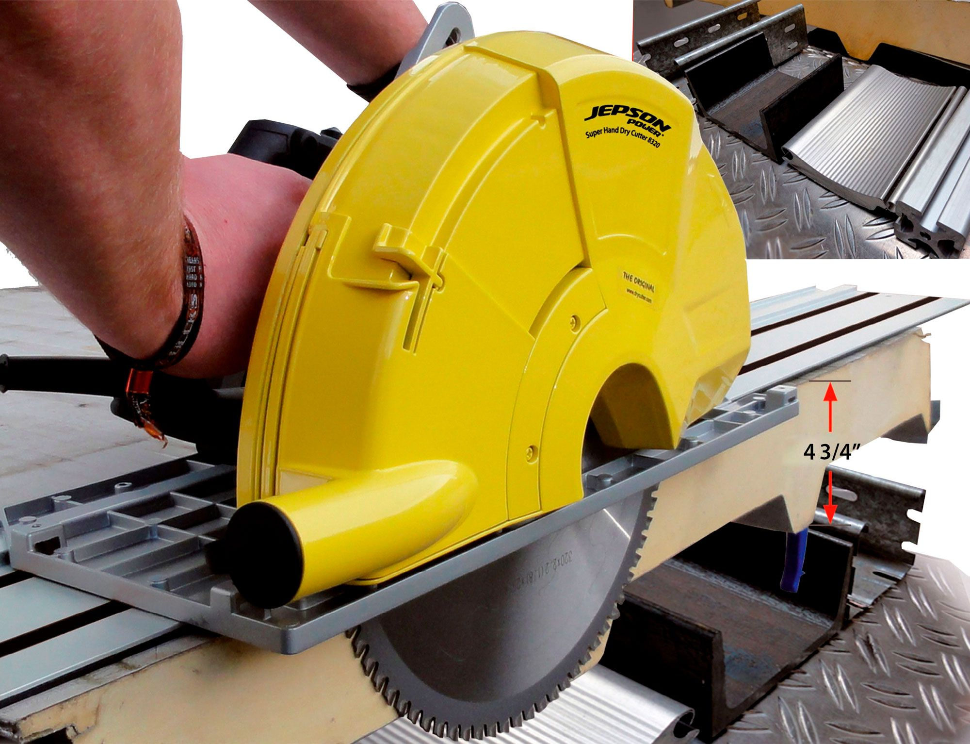 Super Hand Dry Cutter 8320 with guide rail cutting sandwich panel